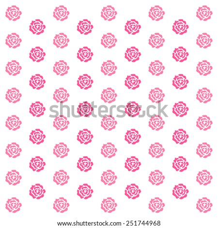Elegance wallpaper with of pink roses on floral background - stock vector