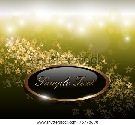 Elegant abstract background with gold stars, vector. - stock vector