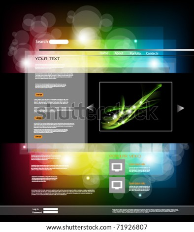 elegant abstract web page background - stock vector