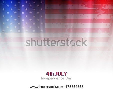 elegant american flag theme background design for independence day. vector illustration - stock vector