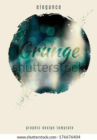 Elegant and modern grunge circle template - stock vector