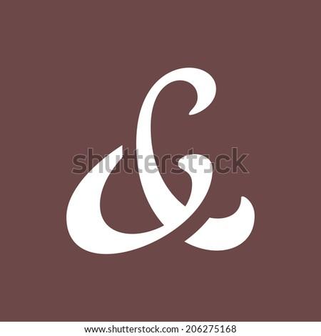 Elegant and stylish ampersand symbol for wedding invitation. Vector illustration - stock vector