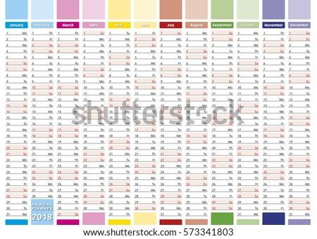 Elegant annual planner for year 2019. New 2019 Year ...