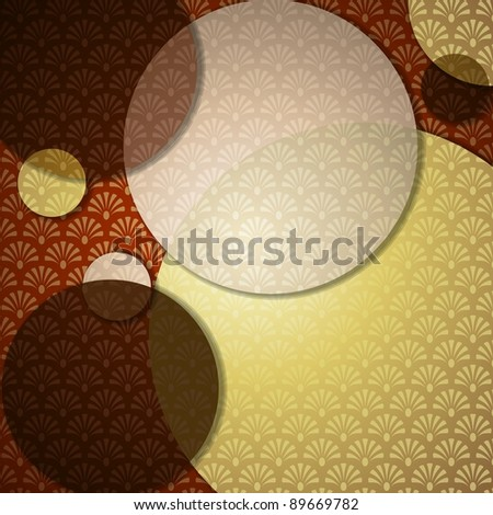 Elegant Art Deco Background (eps10);  jpg version also available - stock vector