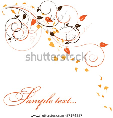 elegant autumn background with place for your text - stock vector