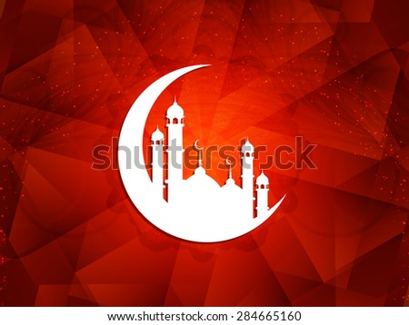 Elegant background design for Islamic festivals Ramadan and Eid. - stock vector