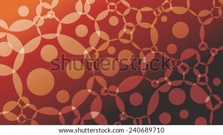 Elegant background with bright circles and gradient from red to black. - stock vector