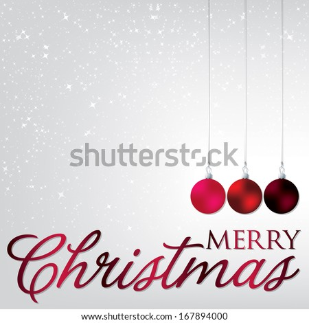 Elegant bauble Christmas card in vector format. - stock vector