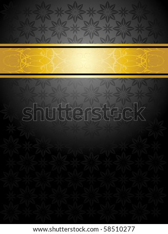 elegant black and gold background - stock vector