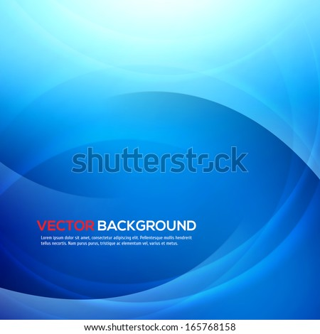 Elegant blue background with place for text. Vector Illustration. - stock vector