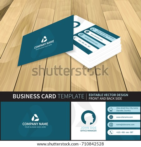 Creative Business Card Mockup Template Vector Stock Vector - Front and back business card template