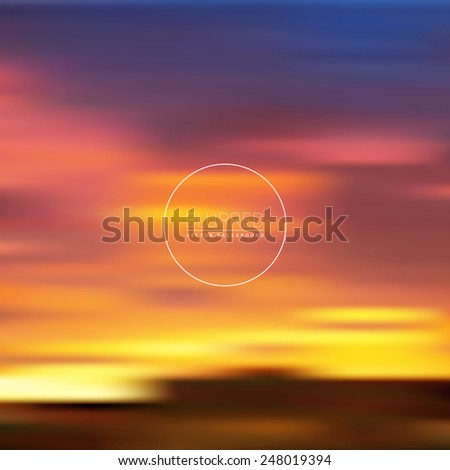 Elegant Blurred Background | Defocused Background | EPS10 Vector Design - stock vector