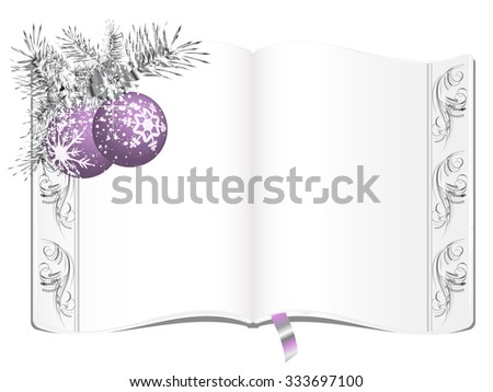 Elegant book with floral border - stock vector