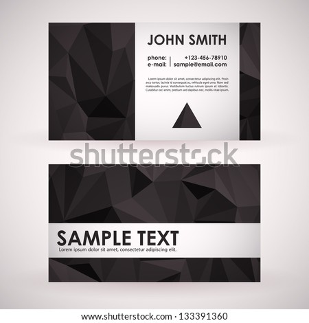 Elegant Business Card Design - stock vector