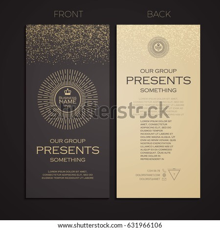 Elegant business card template cover booklet stock vector hd elegant business card template cover booklet greeting card and poster retro gold design flashek Gallery