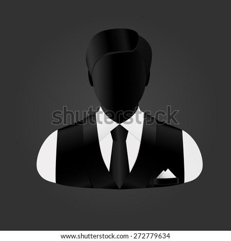 elegant businessman in a vest, a tie in a pocket a handkerchief - stock vector
