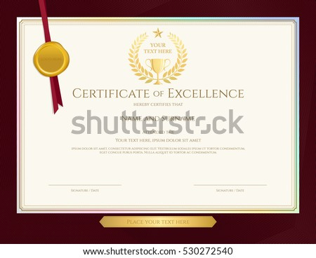 Certificate of appreciation stock images royalty free images elegant certificate template for excellence achievement appreciation or completion on red border background yadclub