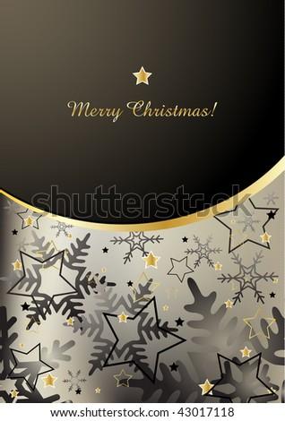 Elegant christmas background design - stock vector