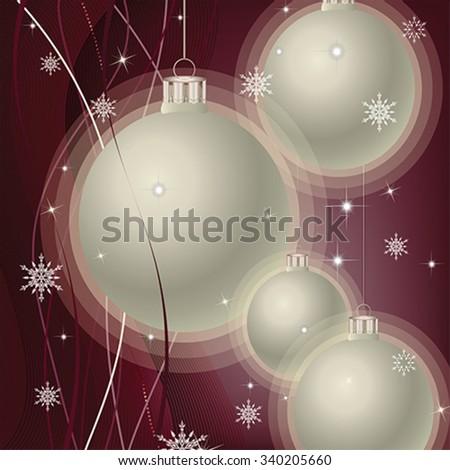 elegant christmas background, vector - stock vector