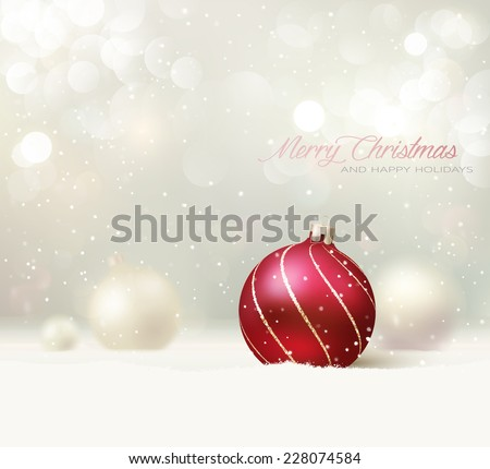 Elegant Christmas Background. Vector Illustration - stock vector