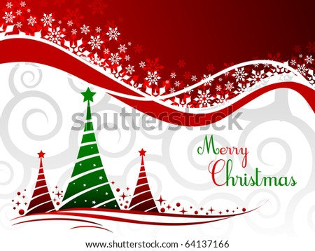 elegant christmas background with beautiful concept,vector illustration - stock vector