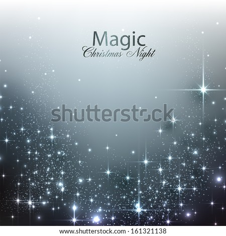 Elegant Christmas background with place for text. Vector Illustration - stock vector