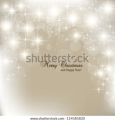 Elegant Christmas background with snowflakes and place for text. Vector Illustration. - stock vector