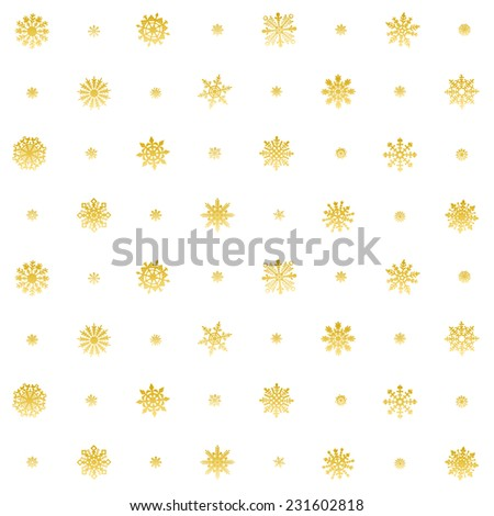 Elegant Christmas Background with Snowflakes, Seamless Snowflakes Pattern. Orange version, vector - stock vector