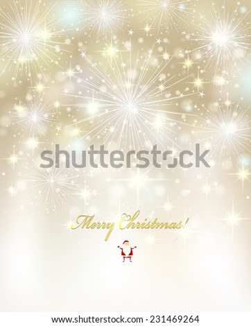 Elegant Christmas background with white snowflakes. Vector design