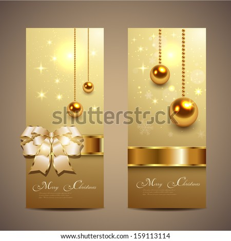 Elegant Christmas banners, vector. - stock vector