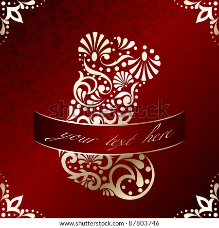 Elegant Christmas card with filigree stocking (eps10);  jpg version also available - stock vector