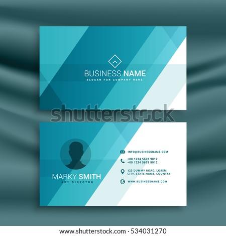 Elegant clean blue business card design em vetor stock 534031270 elegant clean blue business card design in minimal style reheart Gallery