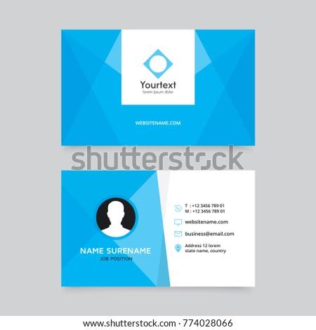 Elegant clean blue business card design stock vector 774028066 elegant clean blue business card design vector modern creative and clean business card template reheart Images