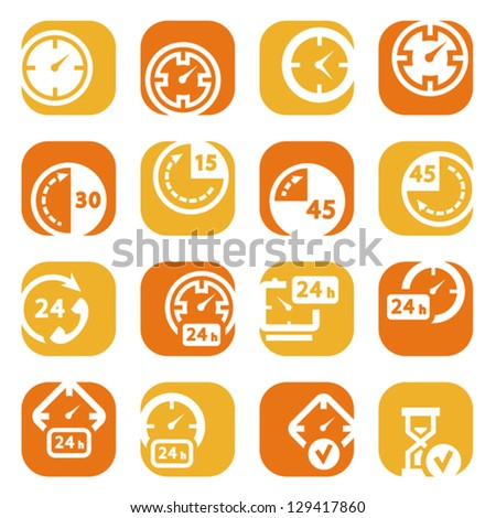 elegant colorful icons set created for mobile, web sites and applications. - stock vector
