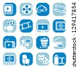 Elegant Colorful ?inema Icons Set Created For Mobile, Web And Applications. - stock photo
