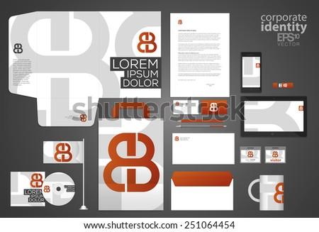 Elegant corporate identity template design. Letter combination logo. Vector company style. - stock vector
