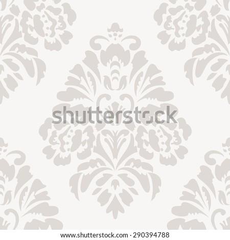 Elegant damask wallpaper. Vintage pattern. Seamless classic vector background. - stock vector