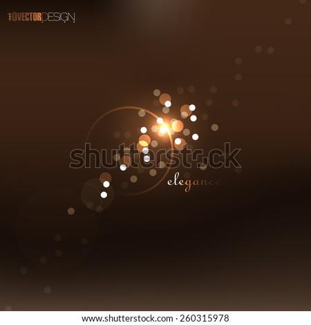 elegant defocused night lights, bokeh. eps10 vector - stock vector