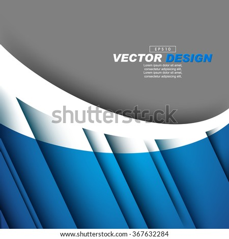 elegant diagonal lines with shadow corporate concept design - stock vector
