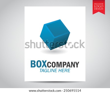 Elegant 3 dimensional blue cube or box innovative and creative inspiration company logo elements, design, template, and vector. - stock vector