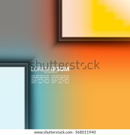 elegant flat transparent overlapping rectangular elements on vibrant clean colorful background - stock vector
