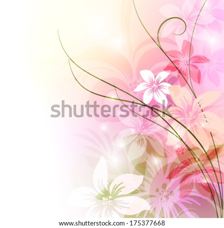 Elegant floral background, eps 10 format  - stock vector