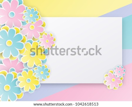 Elegant floral background 3 d paper flowers stock vector 1042618513 elegant floral background with 3d paper flowers and place for text origami trendy design template mightylinksfo