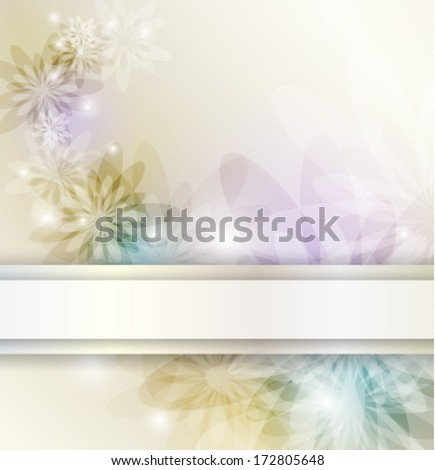 Elegant floral background with place for text, eps10 format - stock vector