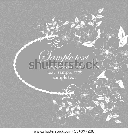 Elegant floral illustration in vintage style. Abstract background or invitation. Wedding card .