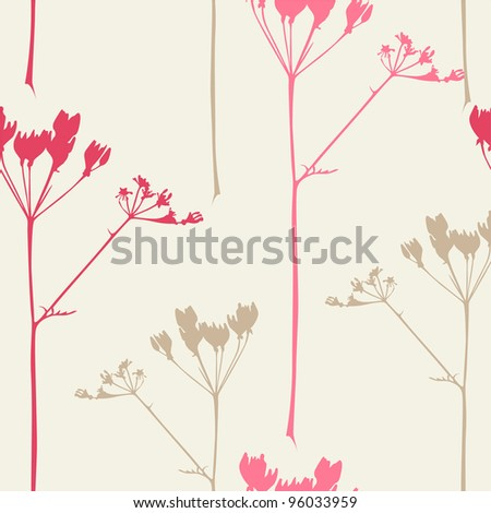 elegant floral seamless pattern for your design - stock vector