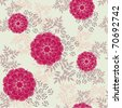 Elegant floral seamless pattern - vector illustration - stock vector