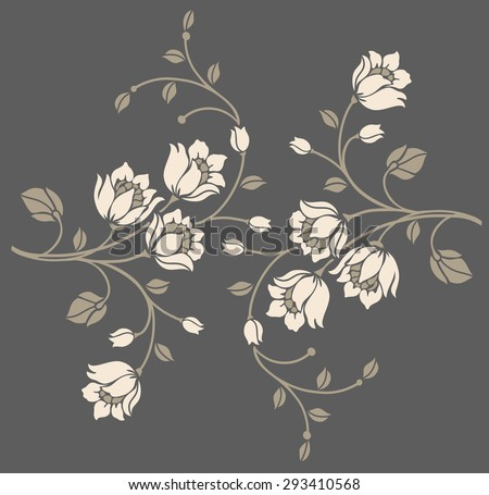 Elegant flower motif design,Vector illustration.luxury style. - stock vector