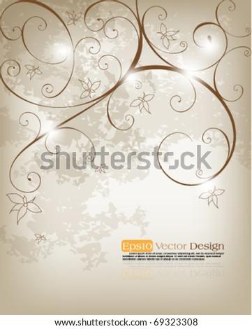 Elegant foliage background design, eps10 vector format - stock vector