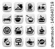 Elegant Food Vector Icon Set Created For Mobile, Web And Applications. - stock vector